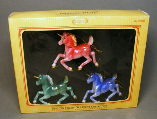 Boxed Breyer Unicorn Fillies Ornament Collection 2005