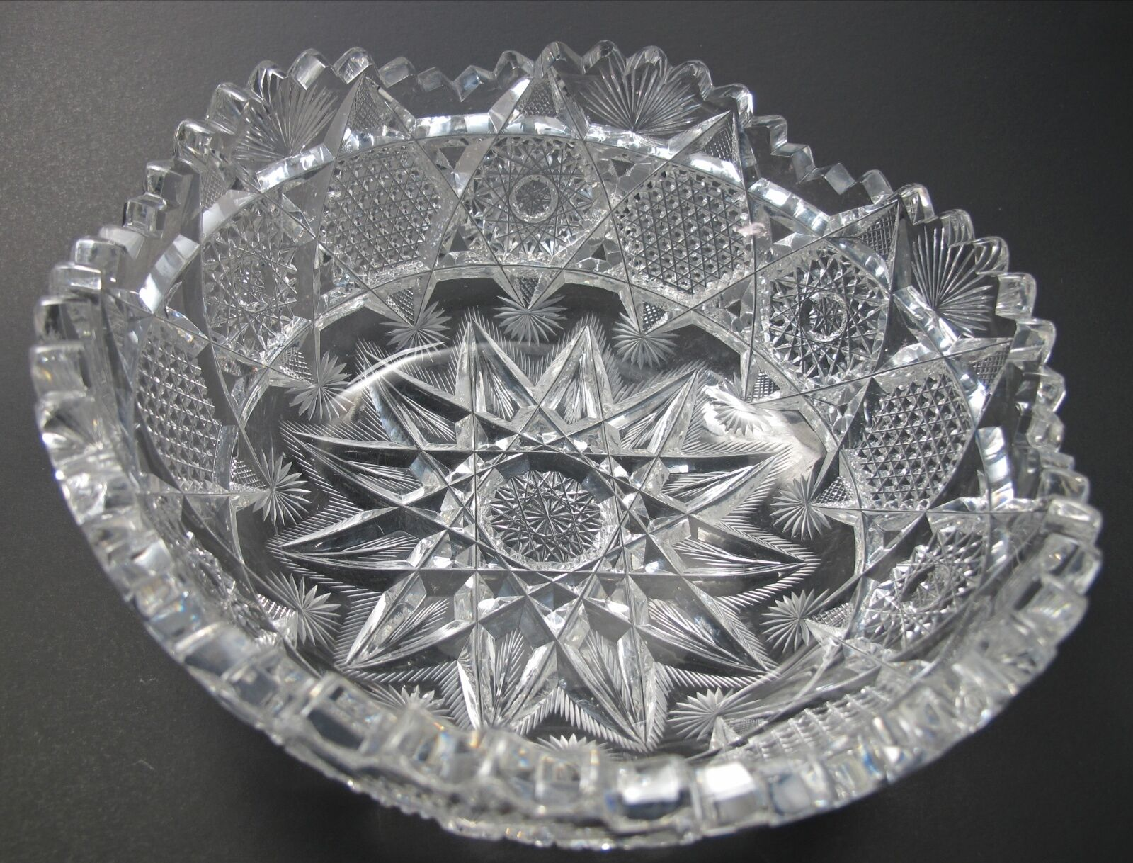 American brilliant period cut glass bowl abp antique How can i cut glass at home
