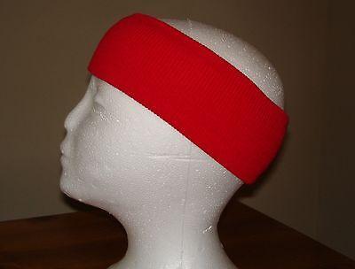 RED KNIT HEADBAND EAR WARMER ACRYLIC WARM SOFT HEAD EARMUFF