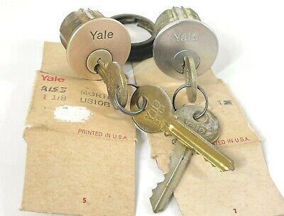 Lot Of 2 Yale Mortise Lock Cylinders W 2 Keys