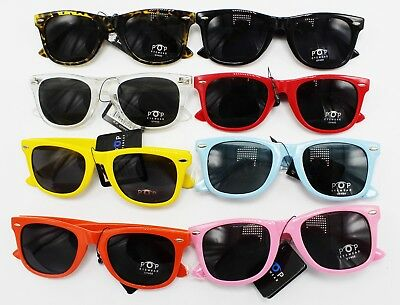Wholesale 12 Pair Retro Way fare Style Sunglasses in Assorted Colors #P712-12