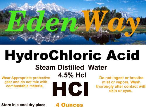 4oz HCl Acid 4oz 4.5% in steam distilled water