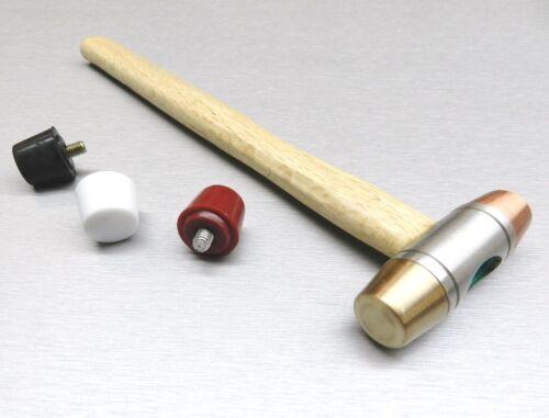 Hammer Interchangeable 5 Faces Plastic Nylon Copper Rubber Brass Mallet Jewelry