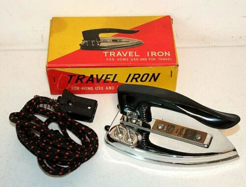Vintage Seiko TRAVEL IRON with Original Box, Folding, Clean & in Great Shape!