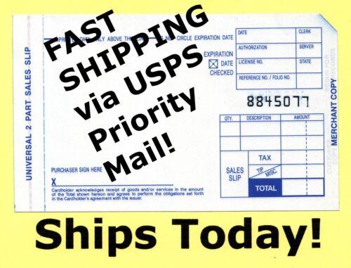 New 1000 Short 2 Part Credit Card Sales Slip Manual Imprinter Draft Forms