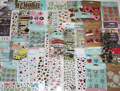Huge Lot 40 Packages Scrapbooking Stickers Ek Success Sticko Momenta Jolees