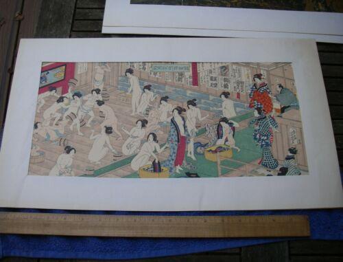 Fine Yoshiiku Ichieisai JAPANESE WOMEN