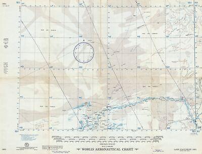 1955 U.S. Air Force Aeronautical Chart or Map of Lake Faguibine, Mali