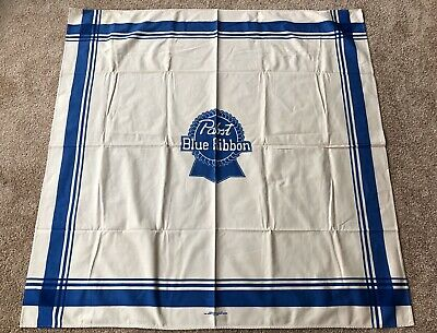 "Vintage Pabst Blue Ribbon Beer Tablecloth Advertising Display 2473 51"" x 52"""
