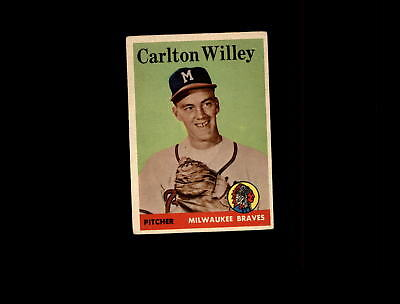1958 Topps 407 Carlton Willey Rc Vg Ex  D572827