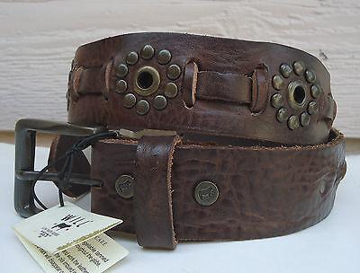 Grommet Stud Belt (NEW $155 Will Leather Goods Julian Belt 28 (Fits 27-30.5) Brown Stud Grommet)
