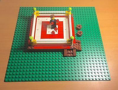 Lego MOC Prebuilt Boxing Ring / Arena W/ Green Baseplate,fighting talk Presenter Ring Moc