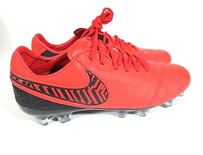 san francisco 98cbb 6cf29 Nike iD Tiempo Legend V 5 FG ACC Soccer Cleats Red Black Wmns Size 8  840393-994