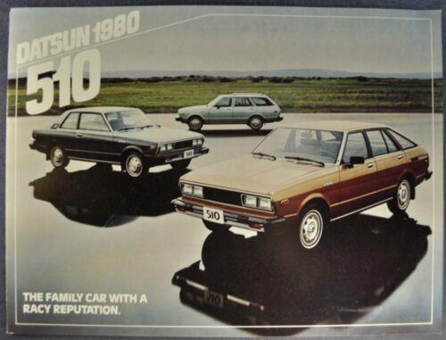 1980 Datsun 510 Brochure Hatchback Sedan Wagon Excellent Original 80 Canadian