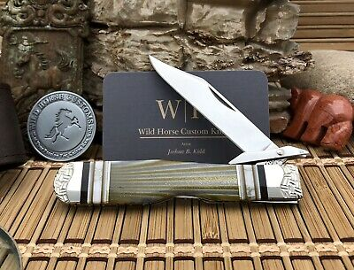 Case XX A-Mazing Wild Horse Custom TURQUOISE & Gold Sparkle Cheetah Knife #1