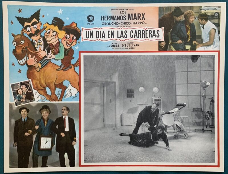 THE MARX BROTHERS A Day a the Races MEXICAN LOBBY CARD 1937