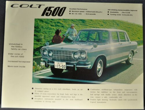 1965 Mitsubishi Colt 1500 Sedan Sales Brochure Sheet Excellent Original 65