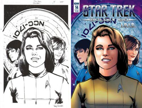 Star Trek TOS Boldy Go #14 I.D.I.C. Tony Shasteen Original Cover Art Female Kirk