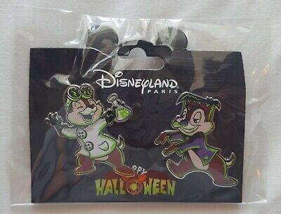 2019 Disneyland Paris Halloween Chip & Dale Disney Pin Set of 2 Pins - US SELLER