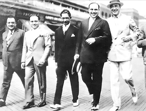 AL CAPONE SCARFACE & MEYER LANSKY WANTED POSTER 8.5 X11 PHOTO IN ATLANTIC CITY