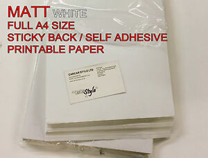 10-x-A4-White-MATT-Self-Adhesive-Sticker-Paper-Sheet-Address-Label-1st-class