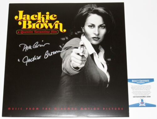 PAM GRIER SIGNED 'JACKIE BROWN' MOVIE SOUNDTRACK VINYL RECORD LP BECKETT COA BAS