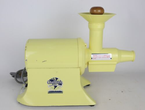 Vintage The Champion Model BLD-665 Yellow Commercial Juicer - Tested/Works Great