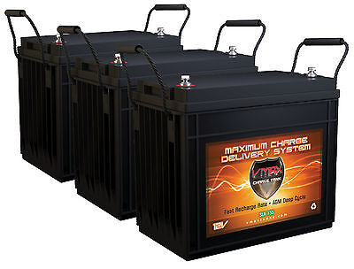 Qty3 Vmaxtanks Slr155 12v 155ah Agm Deep Cycle Vrla Solar Batteries 465ah Total