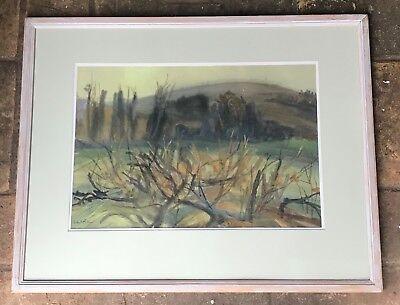 "Fuller Malerei (Violet Fuller (Born 1920) ""Landscape"" watercolour and gouache)"