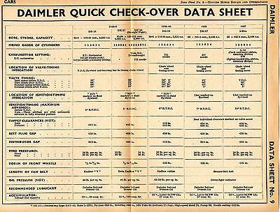 origional vintage Data Sheet FORD V EIGHT 30  1940s