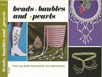 Beads Baubles and Pearls - Vintage Jewelry Making Instruction Book