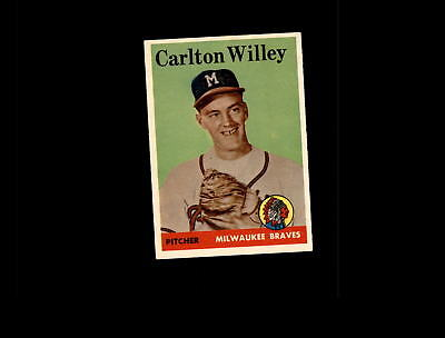 1958 Topps 407 Carlton Willey Rc Ex  D680695