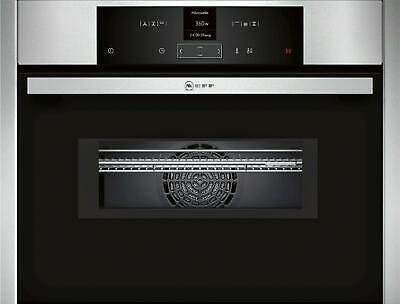 Neff C15MR02N0 N70 Kompakt-Einbau-Backofen mit Mikrowelle, 60 cm breit, 45 L, LE