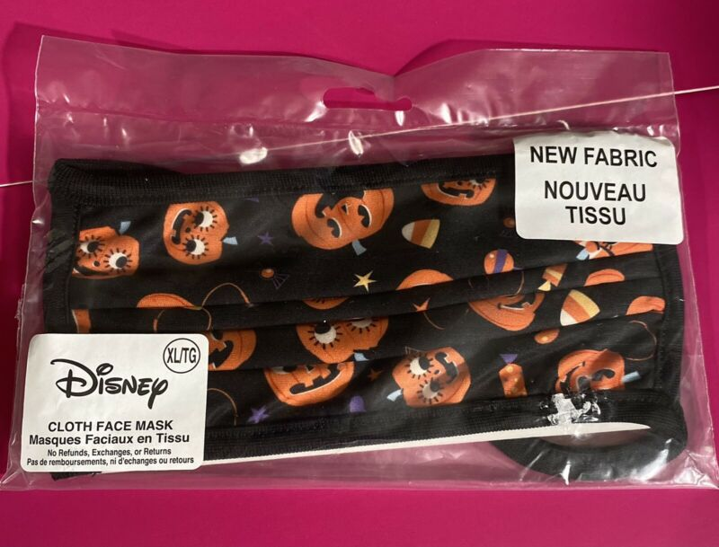 Disney Halloween Jack O Lantern Pumpkins Face Mask Adult XL