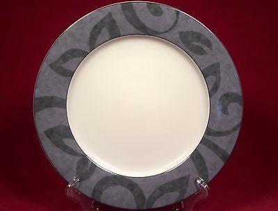 Black Rimmed Dinner Plate - Nikko Fine China Madison Patra Dinner Plate (s) Gray Rim Black Leaves Thailand