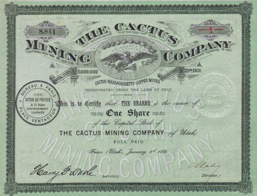 1889 Frisco, Utah: The Cactus Mining Company