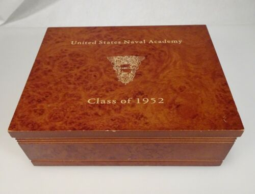 Vintage 1952 Naval Academy Class Box with Pins etc -  58662