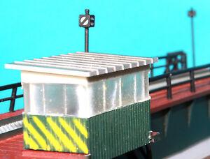 Spur N 2 Gleissperrsignale für Drehscheibenbühnen, LED beleuchtet, Artike1401-tt