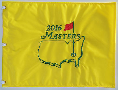2016 MASTERS Official EMBROIDERED Golf Pin FLAG Sealed Golf Pin Flag