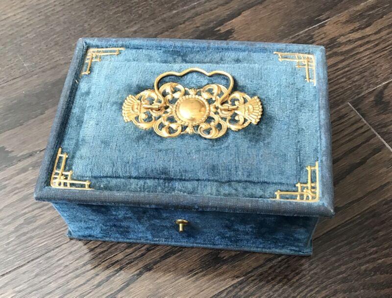 Blue velvet - Boudoir  Box - Rare Find