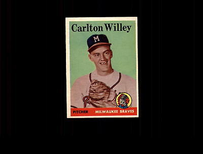 1958 Topps 407 Carlton Willey Rc Ex Mt  D493068