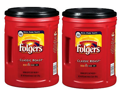 2 Pack Folgers Classic Roast Ground Coffee  48 Oz     Free Shipping