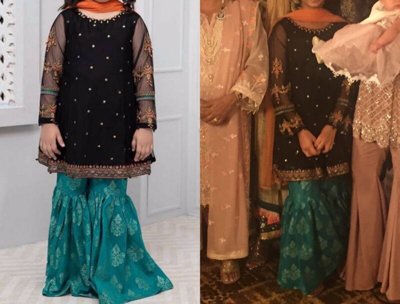Maria B Girls 12-14 Cotton And Net Gharara Perfect For Eid!