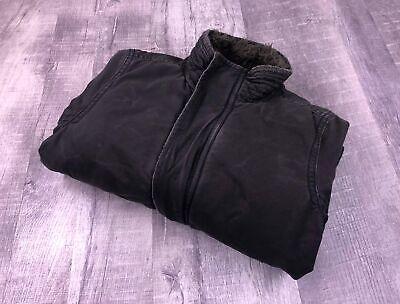 ABERCROMBIE & FITCH Zip & Buttons Up Black Adirondack Jacket Men's Size Medium