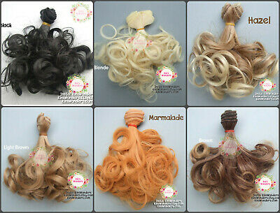 Synthetic Curly Doll hair weft BJD Blythe Monster High My Little Pony 15cm 1/6 (Monster High My Little Pony)