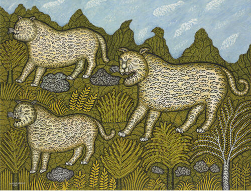 Leopard Family by Morris Hirshfield   Giclee Canvas Print  Repro