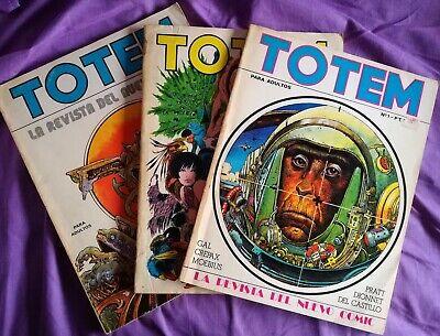 (Pack 3) Revista TOTEM Nº 1, Nº 2 y Nº 3 (1977) -Ver Detalles En La Descripción- segunda mano  Cádiz