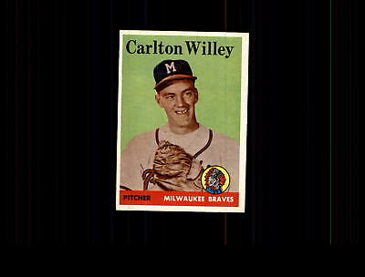 1958 Topps 407 Carlton Willey Rc Ex  D473697