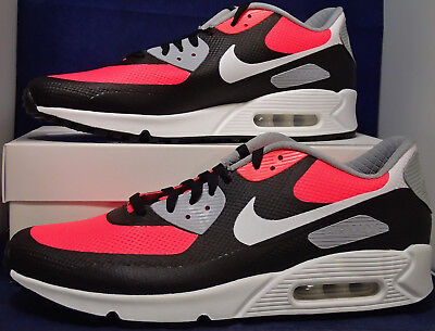 Nike Air Max 90 Hyperfuse Premium iD Black White Solar Red SZ 12 ( 822560-981 (Nike Air Max 90 Hyperfuse Black And White)