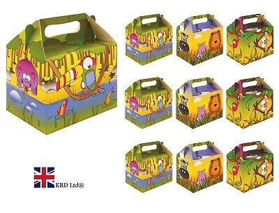 SAFARI PARTY BOXES Kids Jungle Animal Themed Birthday Bags Favors Box Gift UK